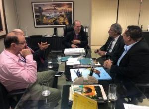 Vitória da Conquista: Herzem Gusmão se reúne com vice-governador João Leão